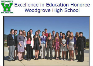 Students in the top 5% in their classes at Woodgrove