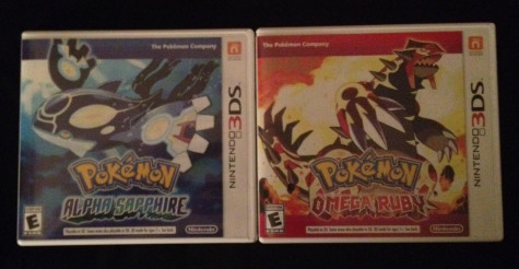 Omega Ruby and Alpha Sapphire game covers. Photo by Jared Ray.