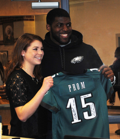 Eagles Football Player Attending Prom