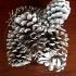 The final decorated pinecones