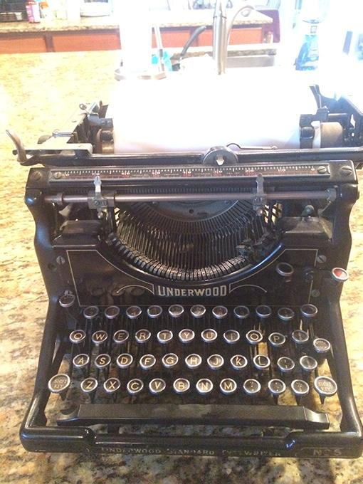 The authors typewriter, which was used to write this article.