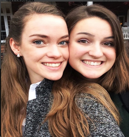 Julia Stewart and Georgia Peake take a selfie while at the Virginia Honors Choir cconference.