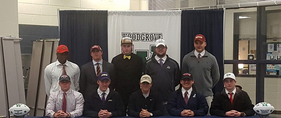 Woodgrove+football+players+signing+to+colleges