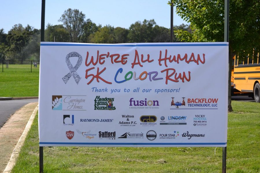 The banner for the 2018 5k Color Run.