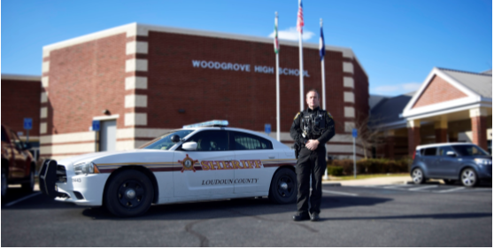 Woodgrove Resource Officer McCarten. Photo by Lorallye Partlow