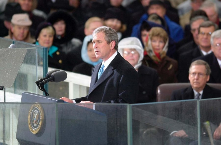 President+George+W.+Bush+giving+his+inauguration+speech+