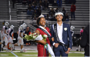 Homecoming+King+and+Queen%3B+Jaylen+Washington+and+Andrew+Rishmawi.+Photo+by+Lainey+Lynch