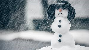 A snowman depicting the winter blues